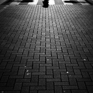 横断歩道の上のシルエット