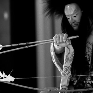 Man having archery
