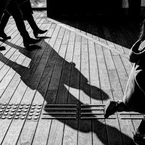 shadows and running kid
