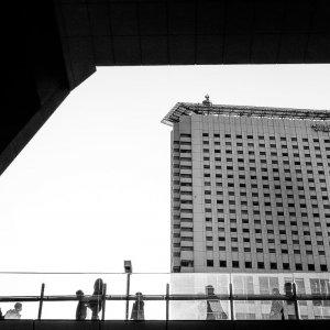 Shinjuku Southern Tower beyond the pedestrian bridge