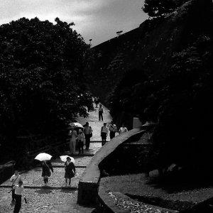 Umbrella in castle