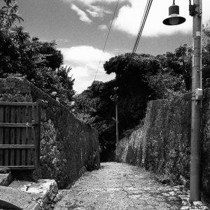 stone paved street in Shuri