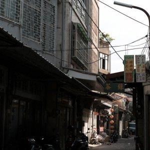 台南中心にある路地