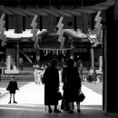 Figures At The Gate Of Omiya Hachiman-gu @ Tokyo