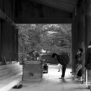 Woman Praying At Izumo Taisha @ Shimane
