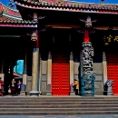 Red Doors In Hsing Tian Kong Temple @ Taiwan