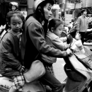 Mother And Her Daughters On The Same Motorbike @ Taiwan