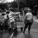Workers At The Traffic Work Zone