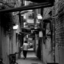 Woman Walking Into A Lane @ Taiwan
