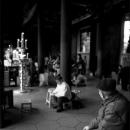 Old Man Sitting In Longshan Temple @ Taiwan