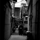 Figure Standing In The Dark Alley @ Taiwan