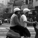 Old Couple Riding A Motorbike @ Taiwan