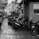 Man Sitting On The Motorbike