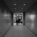 Two Figures Walking The Passageway @ Tokyo