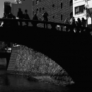 Silhouettes On The Black Bridge