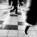 Pedestrians Walking In A Brisk Pace @ Tokyo