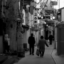 Few People Walking The Narrow Street @ Nagasaki