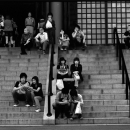 People Resting On The Staircase @ Tokyo
