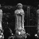 Three Jizo Standing Completely Still All The Time