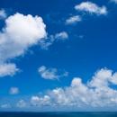Blue Sky And Sea Horizon