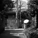 Older Woman With An Umbrella And A Bag @ Okinawa