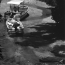 Two Boats In A Dried-up Creek