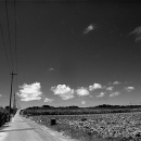 Road, Electric Wires And Clouds @ Okinawa