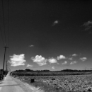 Road, Electric Wires And Clouds