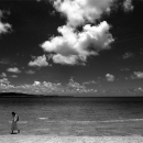Woman Wading Ashore @ Okinawa