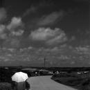 White Umbrella By The Roadside @ Okinawa