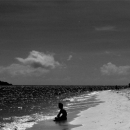 Young Man Sitting On The Beach @ Okinawa