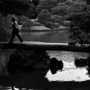 Man Walking On Togetsukyo Bridge @ Tokyo