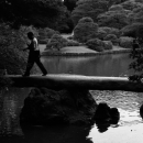 Man Walking On Togetsukyo Bridge