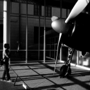Propeller Of Zero Fighter And Man @ Tokyo