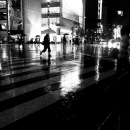 Sukiyabashi Crossing In The Rain