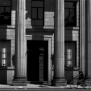 Bicycle Running In Front Of Corinthian Columns @ Okayama