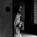 Figure Wearing A Kimono In The Next Room