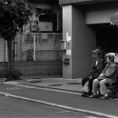 Old Couple Sitting On A Bench @ Tokyo