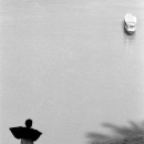 Boy Watchig A Ship Setting Sail @ Laos