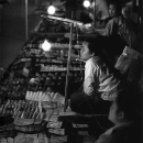 Woman Working At The Night Market @ Laos