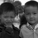 Two Little Boys In The Village @ Laos