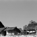 Houses In The Village Of Akha Tribe @ Laos