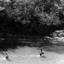 Girls Standing In The River @ Laos