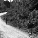 Two Women Walking The Road To The Village @ Laos