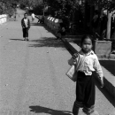 Little Girl Wearing A Sinh @ Laos