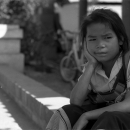 Sullenness Of A Little Girl @ Laos