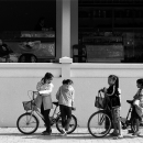 Seven Girls And Three Bicycles @ Laos
