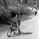 Girl Walking Her Bicycle @ Laos
