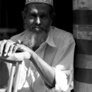 Man Resting In Jami Ul-Alfar Mosque @ Sri Lanka