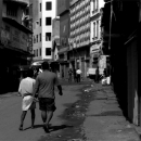 Men Walking The Street In Pettah